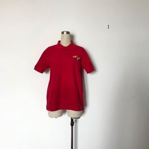 Vintage Chicken on the Way Red Polo T-Shirt